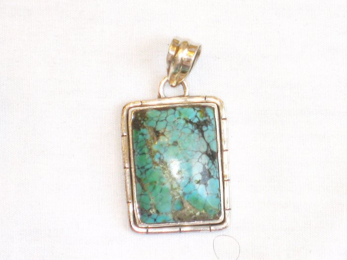 PN174  Turquoise Pendant in Sterling Silver
