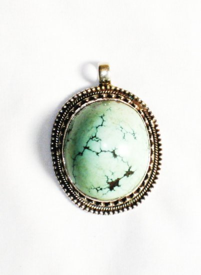 PN257  Turquoise Pendant in Sterling Silver