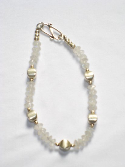 ST008       Moonstone Bracelet in Sterling Silver
