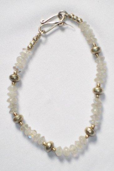 ST009       Moonstone Bracelet in Sterling Silver