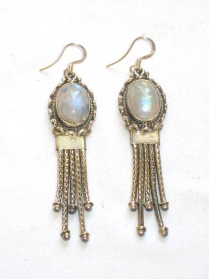 ER010       Moonstone Earrings in Sterling Silver