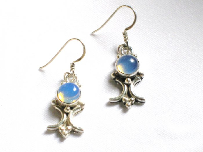 ER065       Moonstone Earrings in Sterling Silver