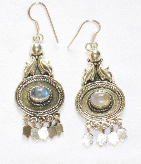 ER081       Moonstone Earrings in Sterling Silver - SOLD