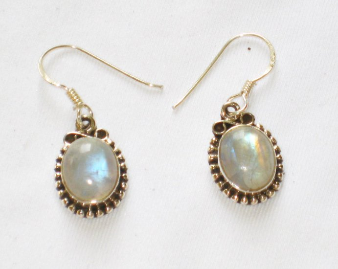 ER100       Moonstone Earrings in Sterling Silver