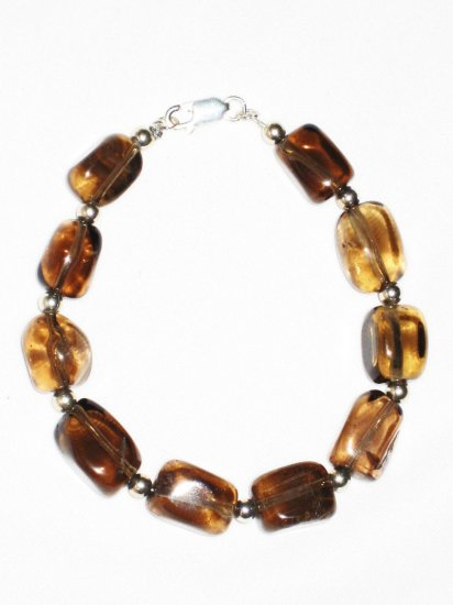 ST571    Smoky Quartz Bracelet set in Sterling Silver