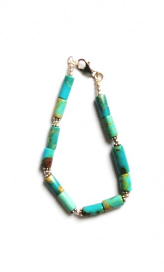 ST051  Turquoise Bracelet in Sterling Silver