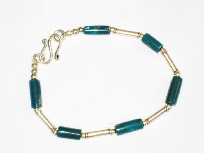 ST620  Turquoise Bracelet in Sterling Silver