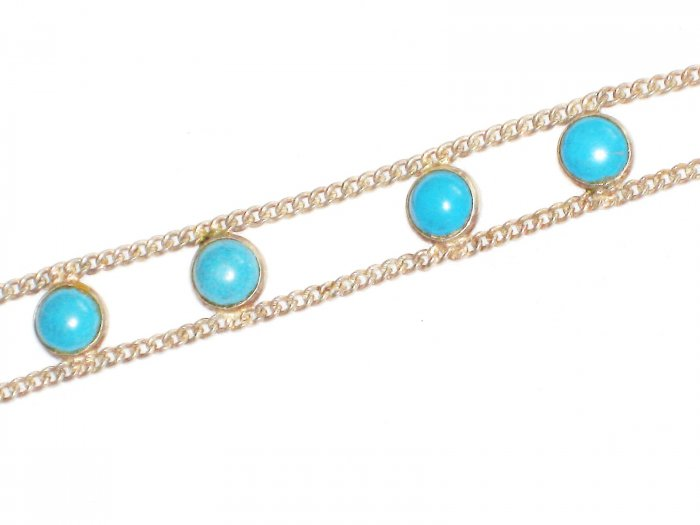 ST625 Turquoise Bracelet in Sterling Silver