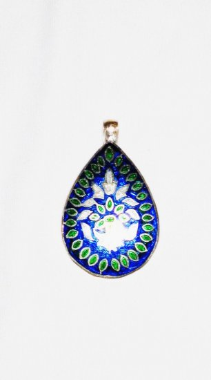 ST576 Enameled Pendant in Sterling Silver