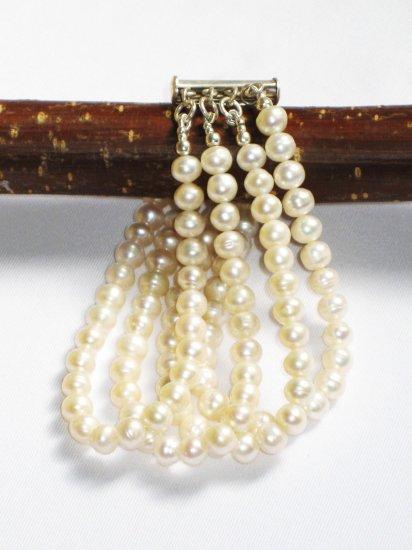 ST280  Pearl Bracelet in Sterling Silver