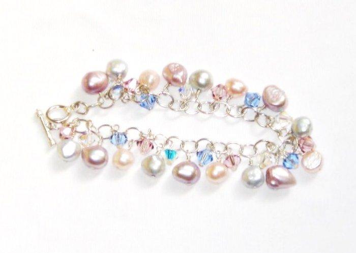 ST293  Pearl Bracelet in Sterling Silver