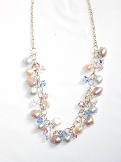 ST292  Pearl Necklace in Sterling Silver