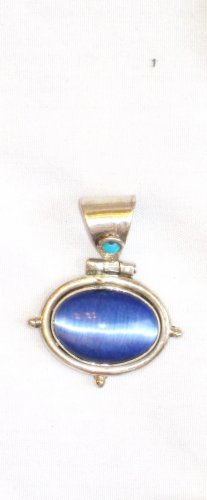 PN066 Dichroic Glass Sterling Silver Pendant