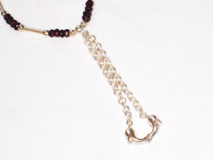 ST183 Garnet Bracelet in Sterling Silver