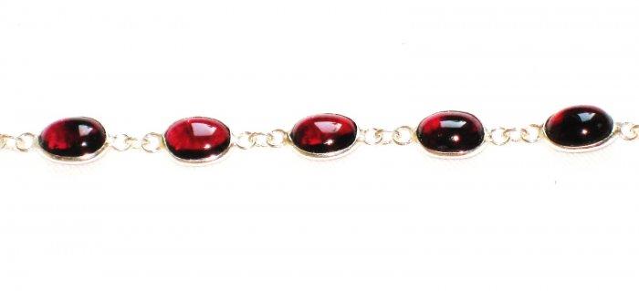 ST375 Garnet Bracelet in Sterling Silver