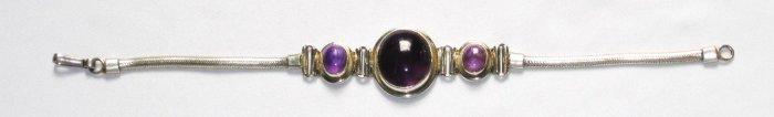 ST003      Amethyst Bracelet in Sterling Silver