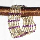ST566      Amethyst Bracelet in Sterling Silver