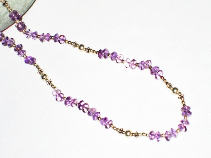 ST505     Amethyst Necklace  in Sterling Silver