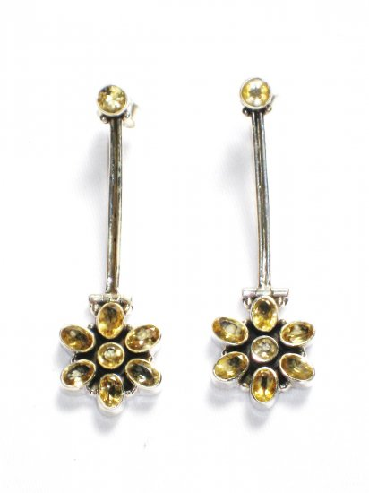 ST229 Citrine Earrings in Sterling Silver - SOLD OUT