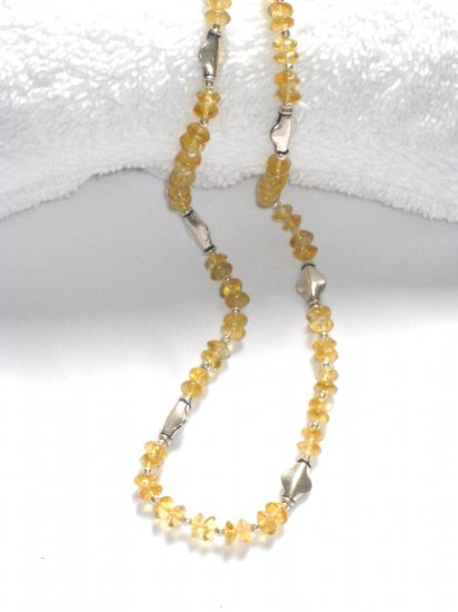 ST200 Citrine Necklace in Sterling Silver
