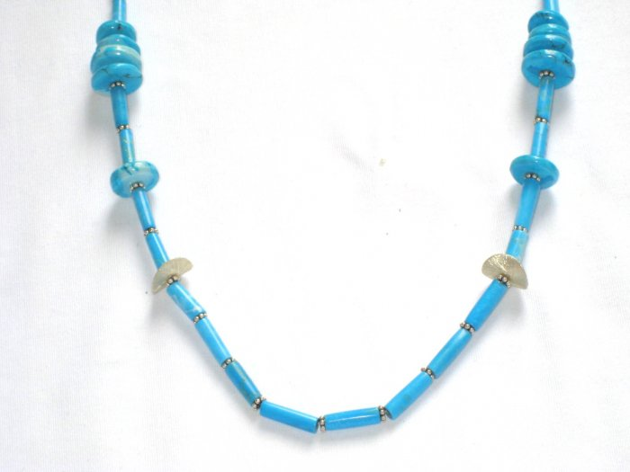ST194 Turquoise Necklace and Earrings Set in Sterling Silver