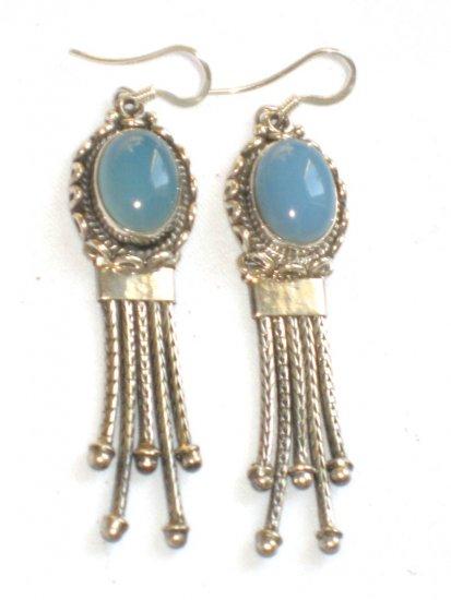 ER011 Chalcedony Earrings in Sterling Silver