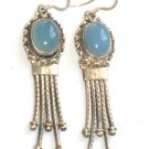 ER011 Chalcedony Earrings in Sterling Silver