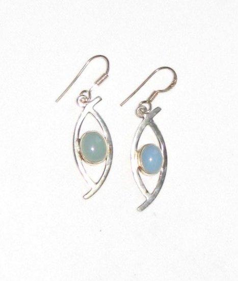 ER030 Chalcedony Earrings in Sterling Silver