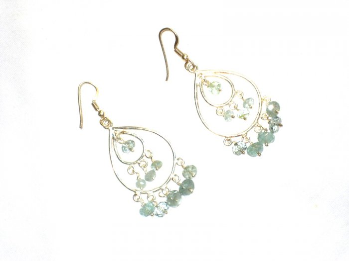 ST601 Chalcedony Earrings in Sterling Silver