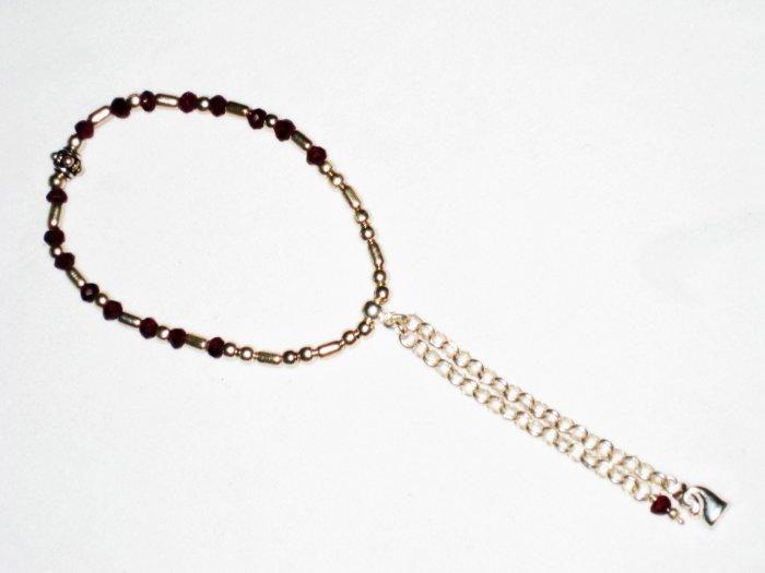ST508 Garnet Bracelet in Sterling Silver