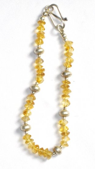 ST013 Citrine Bracelet in Sterling Silver