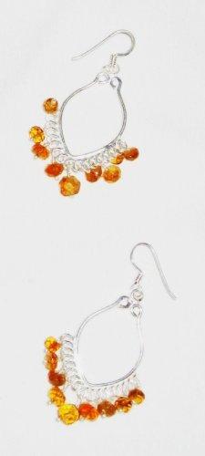 ST558 Citrine Earrings in Sterling Silver