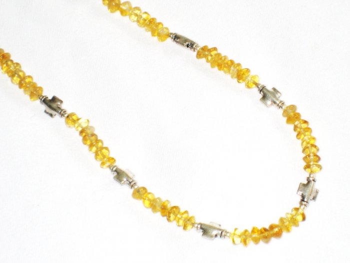 ST650 Citrine Necklace in Sterling Silver