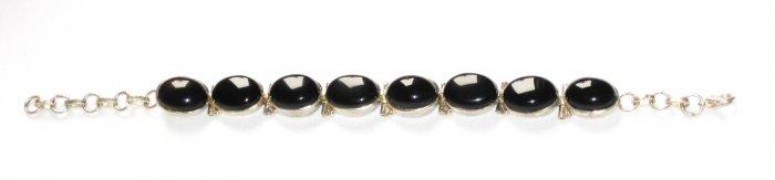 ST157 Onyx Bracelet in Sterling Silver