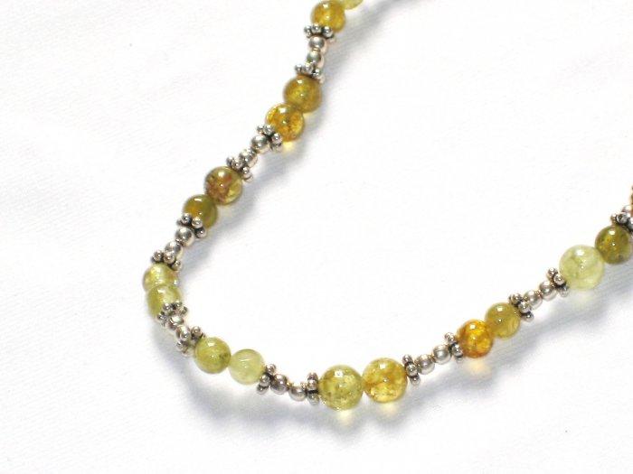 ST014 Amber Bracelet in Sterling Silver