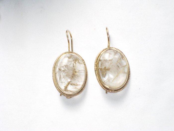ER064 Amber Earrings in Sterling Silver