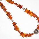 ST475 Amber Necklace in Sterling Silver