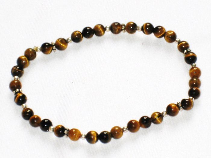 ST161 Tiger's Eye Bracelet in Sterling Silver