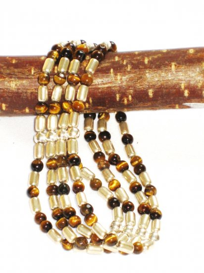 ST272 Tiger's Eye Bracelet in Sterling Silver