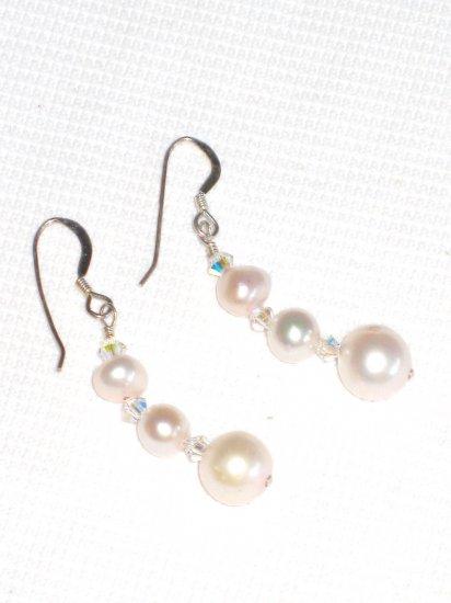 ST406  Pearl Earrings in Sterling Silver