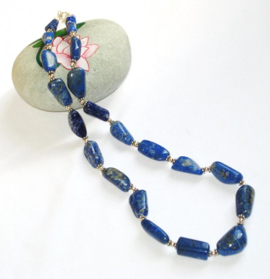 ST364 Lapis Lazuli Necklace in Sterling Silver