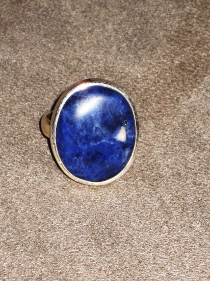 ST580 Lapis Lazuli Ring in Sterling Silver
