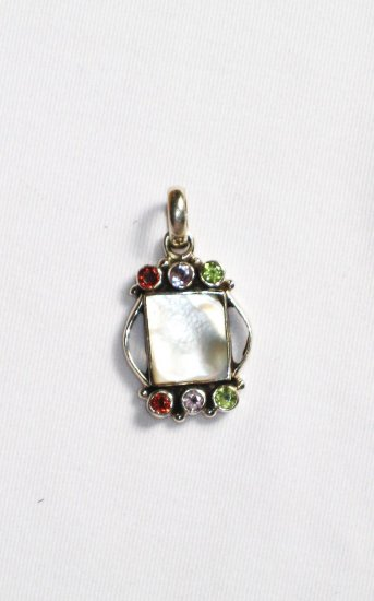 ST237 Mother of Pearl Pendant in Sterling Silver