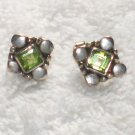 ER063 Peridot Earrings in Sterling Silver