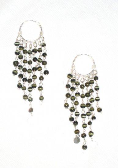 ST384 Agate Earrings in Sterling Silver