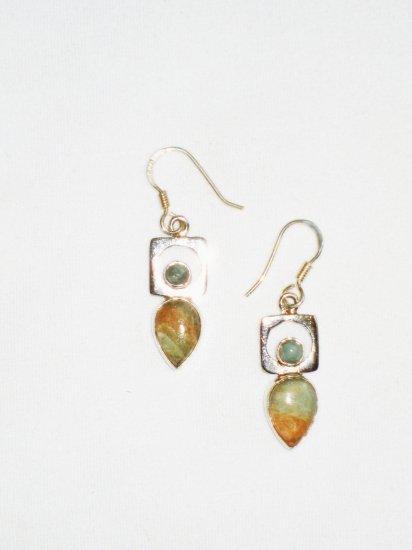 ST612 Agate Earrings in Sterling Silver