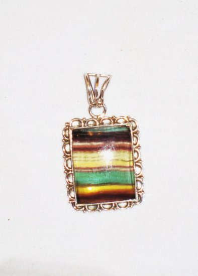 PN091 Agate Pendant in Sterling Silver