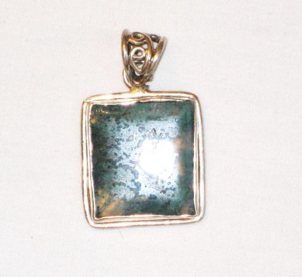 PN117 Agate Pendant in Sterling Silver