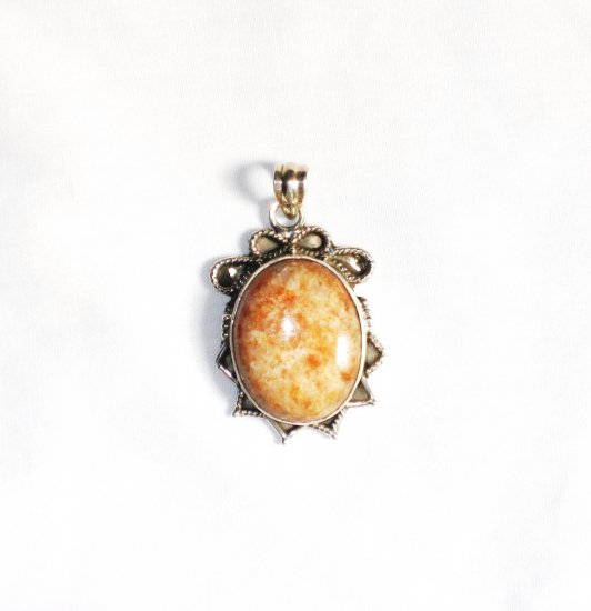 PN143 Agate Pendant in Sterling Silver