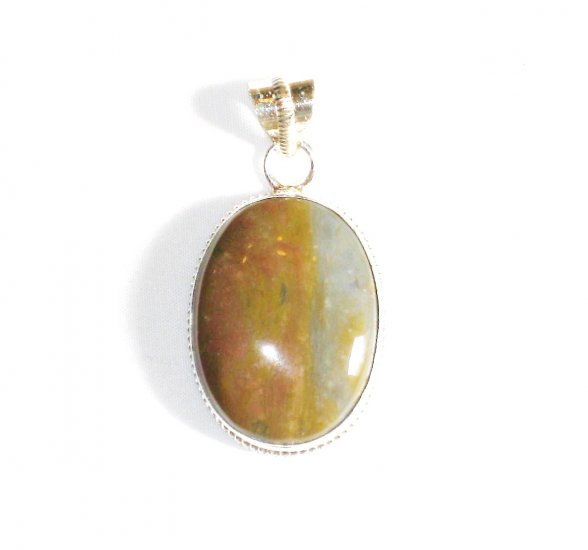 PN238 Agate Pendant in Sterling Silver